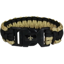 Siskiyou Buckle FSUB150 New Orleans Saints Survivor Bracelet