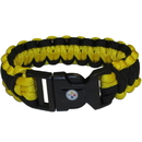 Siskiyou Buckle FSUB160 Pittsburgh Steelers Survivor Bracelet