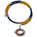 Siskiyou Buckle Chicago Bears Crystal Memory Wire Bracelet, FSWB005