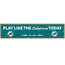 Siskiyou Buckle FSWP060 Miami Dolphins Street Sign Wall Plaque