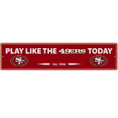 Siskiyou Buckle FSWP075 San Francisco 49ers Street Sign Wall Plaque
