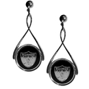 Siskiyou Buckle FTDE125 Oakland Raiders Tear Drop Earrings