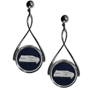 Siskiyou Buckle FTDE155 Seattle Seahawks Tear Drop Earrings