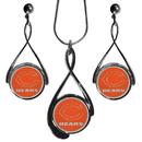Siskiyou Buckle FTDS005DS Chicago Bears Tear Drop Jewelry Set