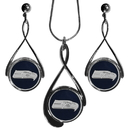 Siskiyou Buckle FTDS155DS Seattle Seahawks Tear Drop Jewelry Set