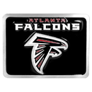 Siskiyou Buckle FTHB070S Atlanta Falcons Hitch Cover Class II and Class III Metal Plugs