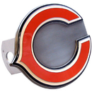 Siskiyou Buckle FTHS005S Chicago Bears Large Hitch Cover Class II and Class III Metal Plugs