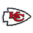 Siskiyou Buckle FTHS045S Kansas City Chiefs Large Hitch Cover Class II and Class III Metal Plugs