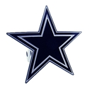 Siskiyou Buckle FTHS055S Dallas Cowboys Large Hitch Cover Class II and Class III Metal Plugs
