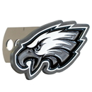 Siskiyou Buckle FTHS065S Philadelphia Eagles Large Hitch Cover Class II and Class III Metal Plugs