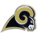 Siskiyou Buckle FTHS130S St. Louis Rams Large Hitch Cover Class II and Class III Metal Plugs
