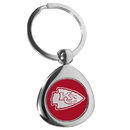 Siskiyou Buckle Kansas City Chiefs Round Teardrop Key Chain, FTKP045