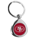 Siskiyou Buckle San Francisco 49ers Round Teardrop Key Chain, FTKP075