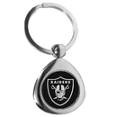 Siskiyou Buckle Oakland Raiders Round Teardrop Key Chain, FTKP125