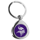Siskiyou Buckle Minnesota Vikings Round Teardrop Key Chain, FTKP165
