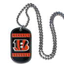 Siskiyou Buckle FTN010 Cincinnati Bengals Tag Necklace