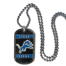 Siskiyou Buckle FTN105 Detroit Lions Tag Necklace