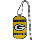 Siskiyou Buckle FTN115 Green Bay Packers Tag Necklace