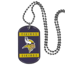Siskiyou Buckle FTN165 Minnesota Vikings Tag Necklace