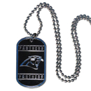 Siskiyou Buckle FTN170 Carolina Panthers Tag Necklace