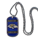 Siskiyou Buckle FTN180 Baltimore Ravens Tag Necklace