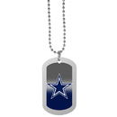 Siskiyou Buckle Dallas Cowboys Team Tag Necklace, FTNP055