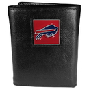 Siskiyou Buckle FTR015 Buffalo Bills Deluxe Leather Tri-fold Wallet Packaged in Gift Box