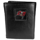 Siskiyou Buckle FTR030 Tampa Bay Buccaneers Deluxe Leather Tri-fold Wallet Packaged in Gift Box