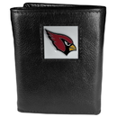 Siskiyou Buckle FTR035 Arizona Cardinals Deluxe Leather Tri-fold Wallet Packaged in Gift Box