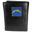 Siskiyou Buckle FTR040 San Diego Chargers Deluxe Leather Tri-fold Wallet Packaged in Gift Box