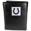 Siskiyou Buckle FTR050 Indianapolis Colts Deluxe Leather Tri-fold Wallet Packaged in Gift Box