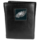 Siskiyou Buckle FTR065 Philadelphia Eagles Deluxe Leather Tri-fold Wallet Packaged in Gift Box