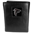 Siskiyou Buckle FTR070 Atlanta Falcons Deluxe Leather Tri-fold Wallet Packaged in Gift Box