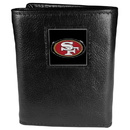 Siskiyou Buckle FTR075 San Francisco 49ers Deluxe Leather Tri-fold Wallet Packaged in Gift Box