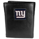 Siskiyou Buckle FTR090BX New York Giants Deluxe Leather Tri-fold Wallet