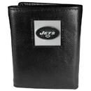 Siskiyou Buckle FTR100 New York Jets Deluxe Leather Tri-fold Wallet Packaged in Gift Box