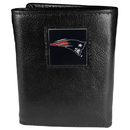Siskiyou Buckle FTR120 New England Patriots Deluxe Leather Tri-fold Wallet Packaged in Gift Box