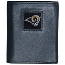 Siskiyou Buckle FTR130 St. Louis Rams Deluxe Leather Tri-fold Wallet Packaged in Gift Box