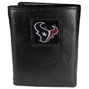 Siskiyou Buckle FTR190 Houston Texans Deluxe Leather Tri-fold Wallet Packaged in Gift Box