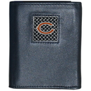 Siskiyou Buckle FTRD005 Chicago Bears Gridiron Leather Tri-fold Wallet Packaged in Gift Box
