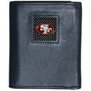 Siskiyou Buckle FTRD075 San Francisco 49ers Gridiron Leather Tri-fold Wallet Packaged in Gift Box