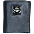 Siskiyou Buckle FTRD100 New York Jets Gridiron Leather Tri-fold Wallet Packaged in Gift Box