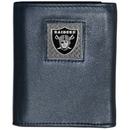 Siskiyou Buckle FTRD125 Oakland Raiders Gridiron Leather Tri-fold Wallet Packaged in Gift Box