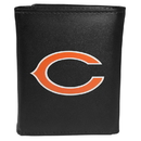 Siskiyou Buckle FTRL005 Chicago Bears Tri-Fold Wallet Large Logo