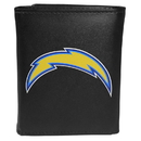 Siskiyou Buckle FTRL040 Los Angeles Chargers Tri-Fold Wallet Large Logo