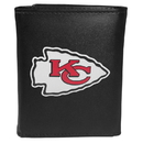 Siskiyou Buckle FTRL045 Kansas City Chiefs Tri-Fold Wallet Large Logo