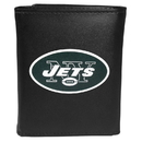 Siskiyou Buckle FTRL100 New York Jets Tri-Fold Wallet Large Logo