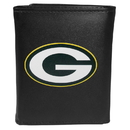 Siskiyou Buckle FTRL115 Green Bay Packers Tri-Fold Wallet Large Logo