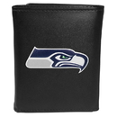 Siskiyou Buckle FTRL155 Seattle Seahawks Tri-Fold Wallet Large Logo