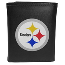 Siskiyou Buckle FTRL160 Pittsburgh Steelers Tri-Fold Wallet Large Logo